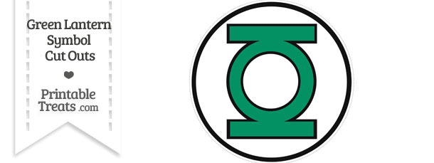 Green Lantern Symbol Cut Out