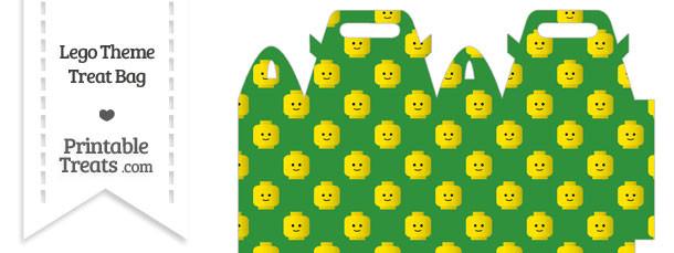 Green Lego Theme Treat Bag