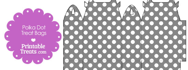 Grey and White Polka Dot Treat Bags to Print