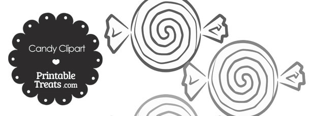 Grey Candy Clipart