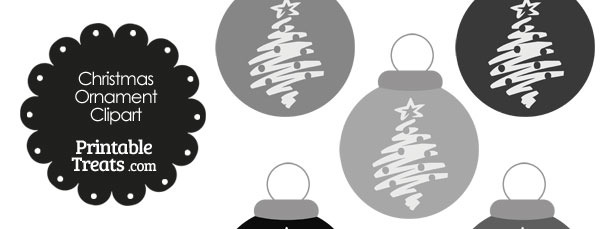 Grey Christmas Tree Christmas Ornament Clipart
