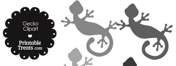 Grey Gecko Clipart