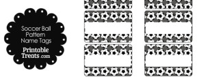 Grey Soccer Ball Pattern Name Tags