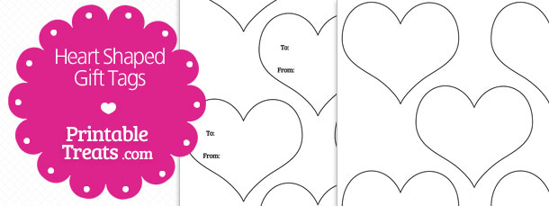 Heart Shaped Gift Tags Template Printable Treats Com