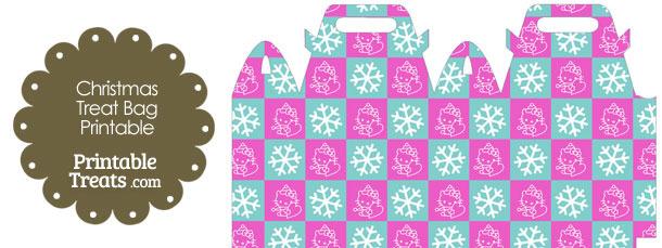 Hello Kitty Christmas Checkered Treat Bag
