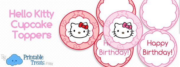Hello kitty cupcake toppers printable printable treats free hello kitty cupcake toppers maxwellsz