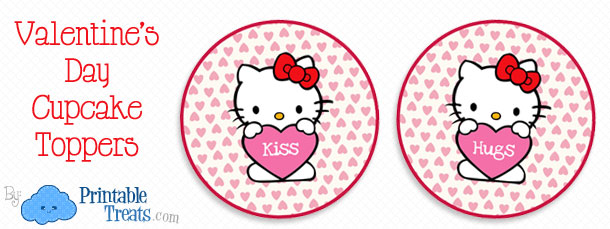 Hello kitty valentines day cupcake toppers printable treats free hello kitty valentines day cupcake toppers maxwellsz
