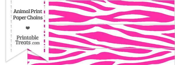 Hot Pink and White Zebra Print Paper Chains