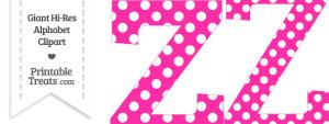 Hot Pink Polka Dot Letter Z Clipart