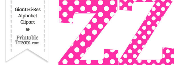 Hot Pink Polka Dot Letter Z Clipart
