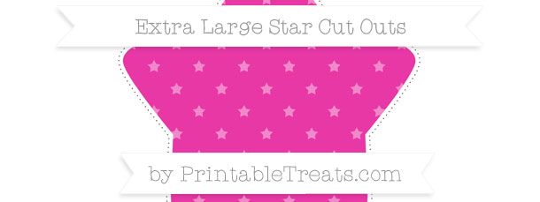 Hot Pink Star Pattern Extra Large Star Cut Outs