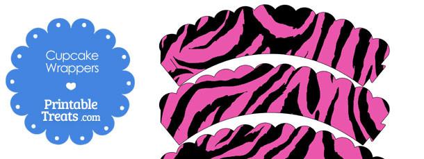 free-hot-pink-zebra-print-cupcake-wrappers