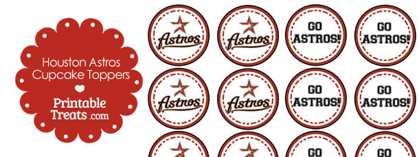 Houston Astros Cupcake Toppers