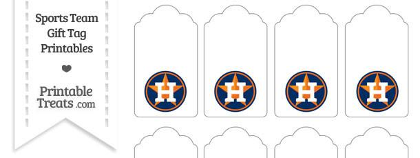 Houston Astros Gift Tags