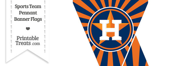 graphic regarding Astros Printable Schedule identified as Houston Astros Mini Pennant Banner Flags Printable