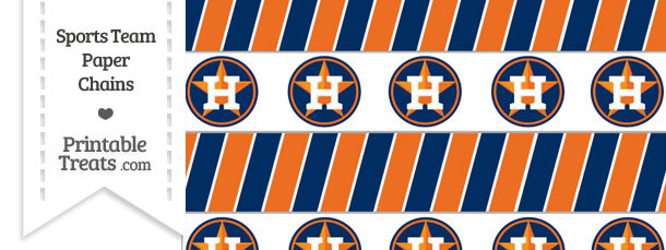 Houston Astros Paper Chains