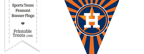 Houston Astros Pennant Banner Flag — Printable Treats.com