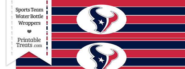 Houston Texans Water Bottle Wrappers