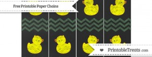 free-hunter-green-chevron-chalk-style-baby-duck-paper-chains-to-print