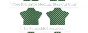 free-hunter-green-dotted-pattern-medium-star-cut-outs-to-print