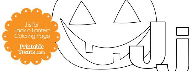 J Is For Jack O Lantern Printable Coloring Page — Printable Treats.com