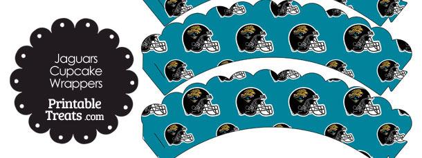 Jacksonville Jaguars Football Helmet Scalloped Cupcake Wrappers