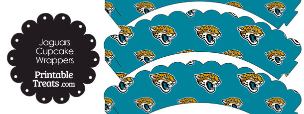 Jacksonville Jaguars Logo Scalloped Cupcake Wrappers