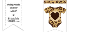 Jaguar Print Baby Onesie Bunting Banner Heart End Flag
