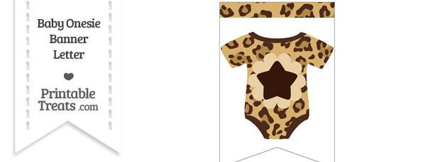 Jaguar Print Baby Onesie Bunting Banner Star End Flag