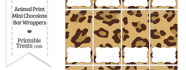 Jaguar Print Mini Chocolate Bar Wrappers