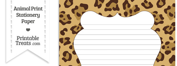 Jaguar Print Stationery Paper