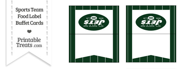 Jets Food Label Buffet Cards