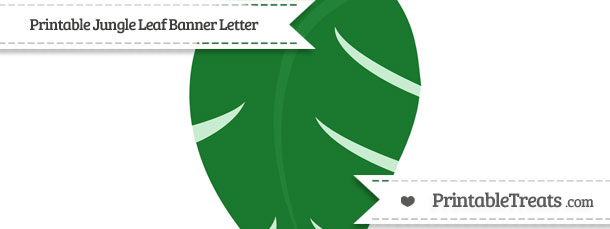 Free Jungle Leaf Blank Spacer Banner Flag — Printable Treats.com