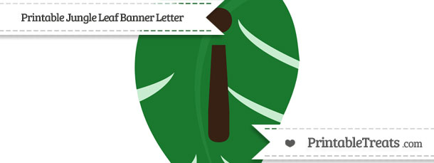 Free jungle leaf with inverted exclamation mark for Jungle leaf templates to cut out