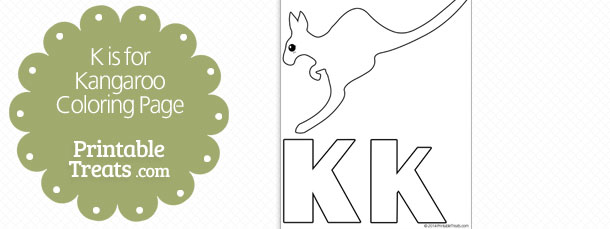 K Is For Kangaroo Coloring Page Printable Treats Com
