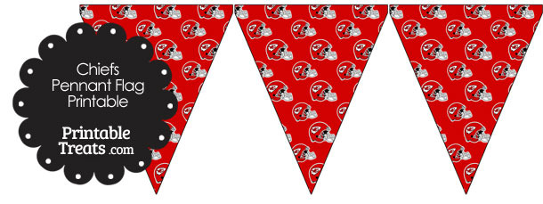 Kansas City Chiefs Football Helmet Pennant Banners
