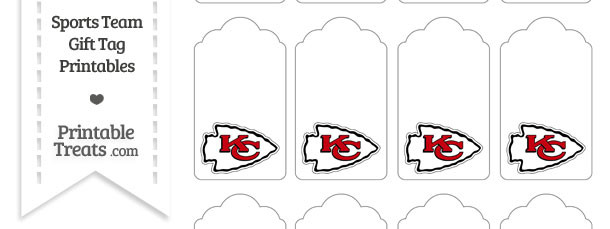 Kansas City Chiefs Gift Tags