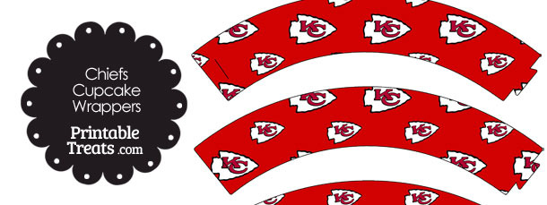 Kansas City Chiefs Logo Cupcake Wrappers