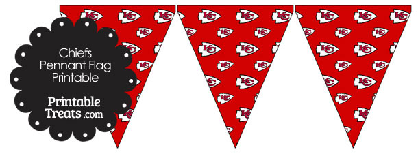 Kansas City Chiefs Logo Pennant Banners