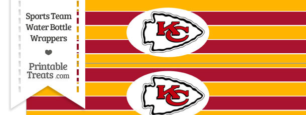 Kansas City Chiefs Water Bottle Wrappers