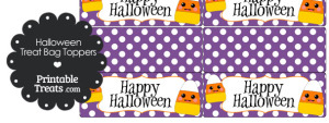 Kawaii Candy Corn Treat Bag Toppers