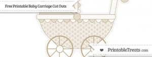free-khaki-fish-scale-pattern-extra-large-baby-carriage-cut-outs-to-print