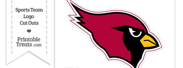 Large Arizona Cardinals Logo Cut Out