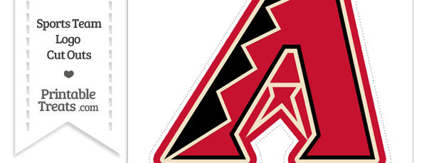image about Diamondbacks Schedule Printable titled Huge Arizona Diamondbacks Symbol Slash Out Printable