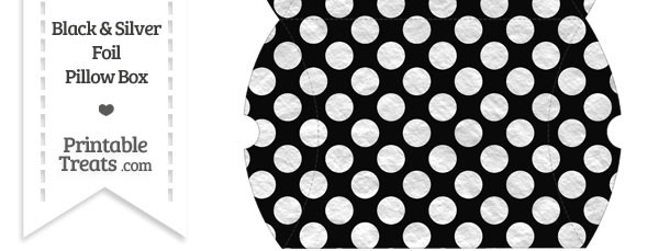 Large Black and Silver Foil Dots Pillow Box