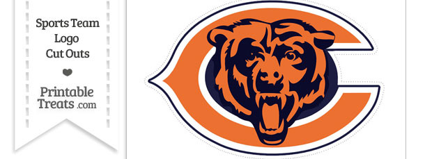 large chicago bears logo cut out printable treats com rh printabletreats com Chicago Bears Logo Stencil chicago bears clip art