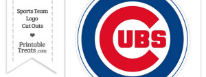 Large Chicago Cubs Logo Cut Out