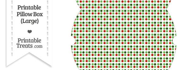 Large Christmas Dots Pillow Box