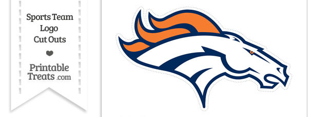 Large Denver Broncos Logo Cut Out