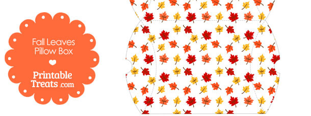 Large Fall Leaves Pillow Box